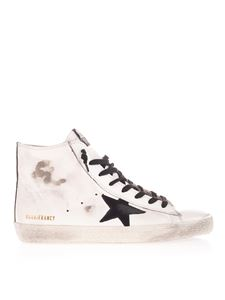 Golden Goose - Camouflage detail Francy sneakers in white