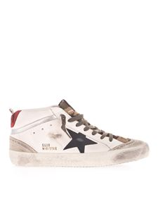 Golden Goose - Midstar sneakers in white and camouflage