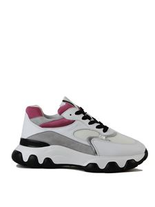 Hogan - Hyperactive sneakers in white pink and silver
