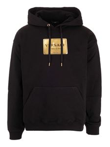 Versace - Golden logo sweatshirt in black