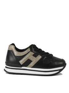 Hogan - Sneakers H222 Junior nere e oro
