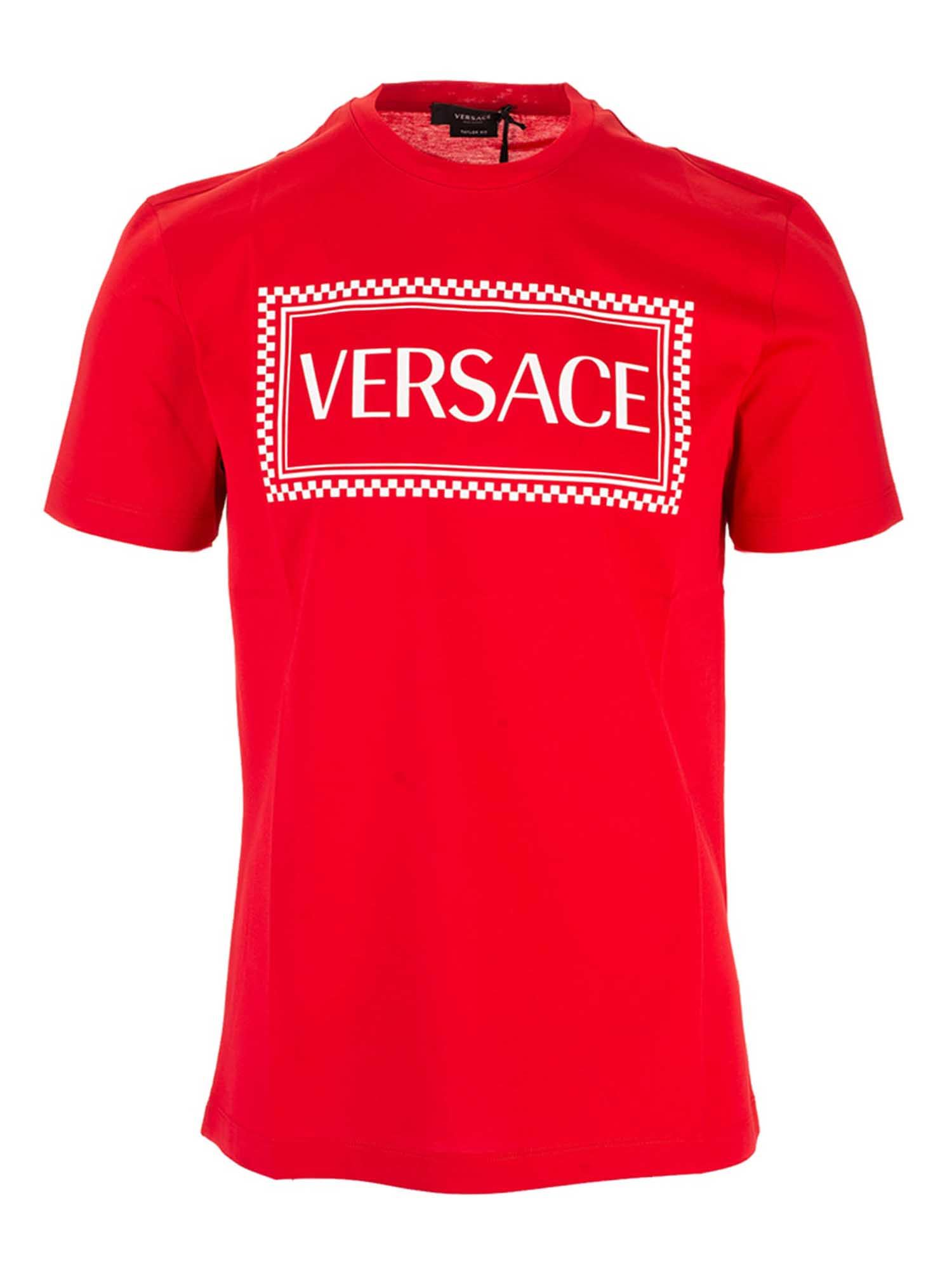 Versace 90S LOGO T-SHIRT IN RED