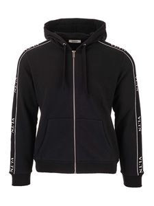 Valentino - VLTN zip sweatshirt in black