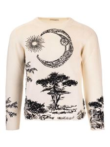 Valentino - Printed pullover in ivory and black