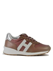 Hogan - Sneakers Running R261 Junior rosa e argento