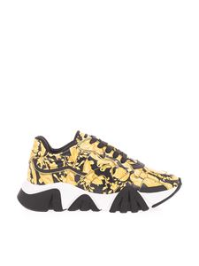 Versace - Chain sneakers in black and yellow