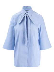 Valentino - Tie neck shirt in light blue