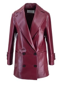 Valentino - Double-breasted coat in burgundy