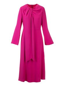 Valentino - Flared midi dress in fuchsia