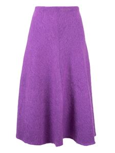 Valentino - Flared skirt in purple knit