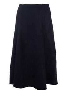 Valentino - Flared skirt in black knit