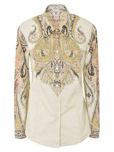 Etro - Printed shirt in ivory color