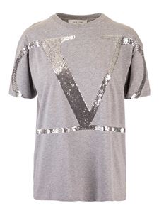 Valentino - VLogo Signature t-shirt in grey