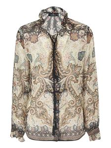 Etro - Paisley print shirt in beige and black