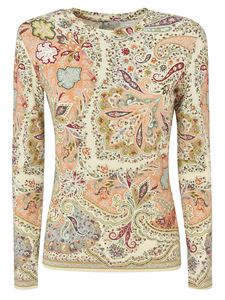 Etro - Paisley print sweater in ivory color