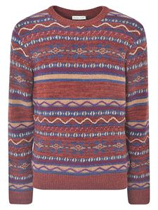Etro - Jacquard pattern  pullover in red