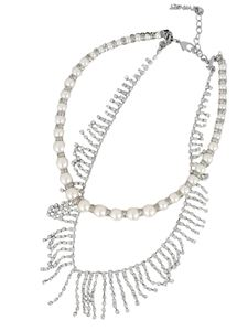 Twin-Set - Necklace with pearls in silver colour