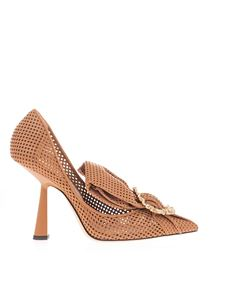Jimmy Choo - Lyz 100 pumps in Nutmeg color
