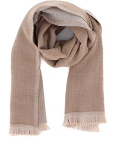 Fay - Textured wool scarf in beige