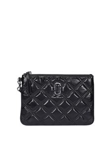 Marc Jacobs  - The Quilted Softshot wallet in black