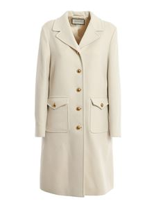 Gucci - Double wool coat in cream colour