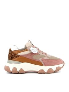 Hogan - Laced-up Hyperactive H540 sneakers in beige