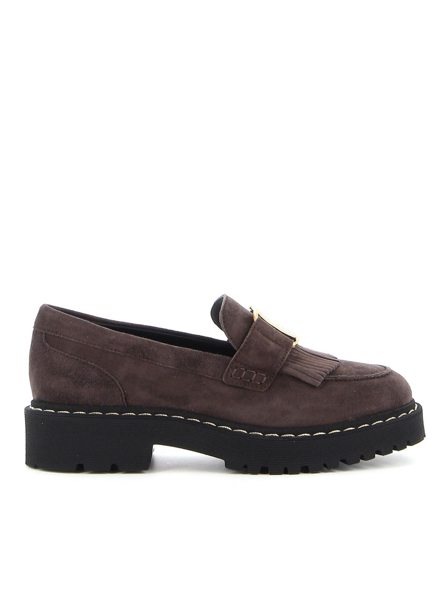 Hogan Suedes H543 LOAFERS IN BROWN