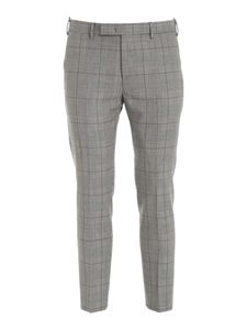 PT01 - Prince of Wales check pants in black