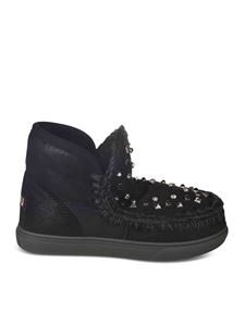 Mou - Mixed Studs Eskimo sneakers in black