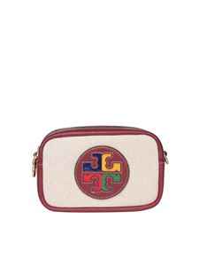 Tory Burch - Canva mini cross body bag Perry in beige