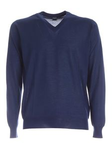 Fedeli - Cashmere and silk pullover in blue