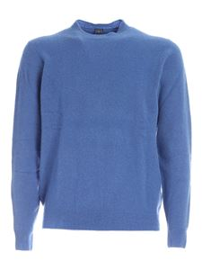 Fedeli - Cashmere blend pullover in blue