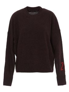 Zadig & Voltaire - Branded sleeve sweater in red