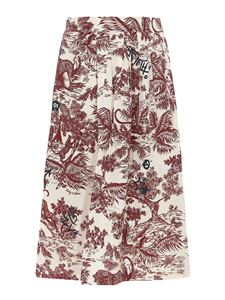 Zadig & Voltaire - Printed midi skirt in red