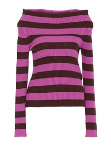 MSGM - Striped sweater in purple