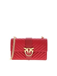 Pinko - Love Classic Icon V Quilt bag in red