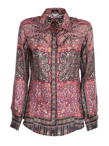 Etro - Patterned shirt in silk multicolor