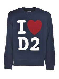 Dsquared2 - I Love D2 sweatshirt in blue