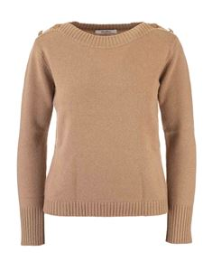 Max Mara - Sweater in beige with buttons