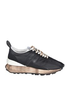 Lanvin - Vintage effect sneakers in black