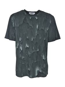 MSGM - Brush stroke effect T-shirt in green