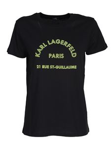 Karl Lagerfeld - Printed logo t-shirt in black