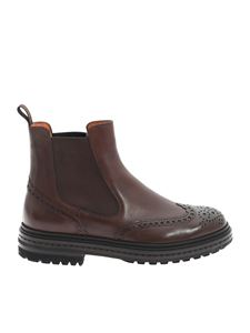 Santoni - Chelsea in brown leather