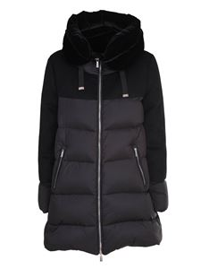 Moorer - Trapeze-line down jacket in black