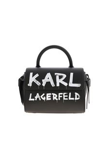 Karl Lagerfeld - K/Ikon Graffiti mini bag in black