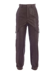be Blumarine - Button detail pants in brown