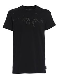 Philipp Plein - Cotton T-shirt with logo in black