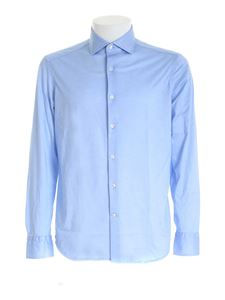 Sonrisa - Shirt in melange light blue
