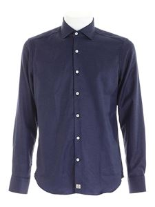 Sonrisa - Herringbone pattern shirt in blue