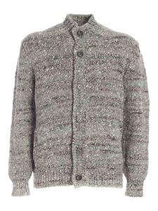 Fedeli - Multicolor details cardigan in grey